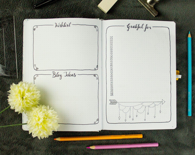 Bullet Journal Grateful for