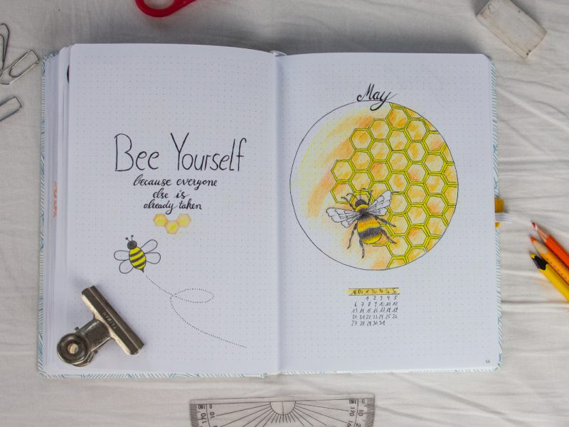 Bullet Journal Bee may setting