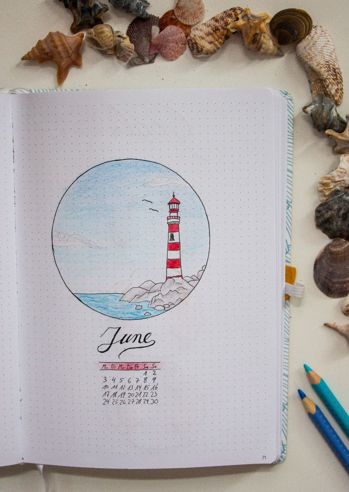 Bullet Journal Nautical June