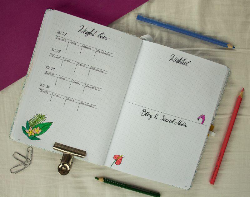 Bullet Journal Setting July tropical