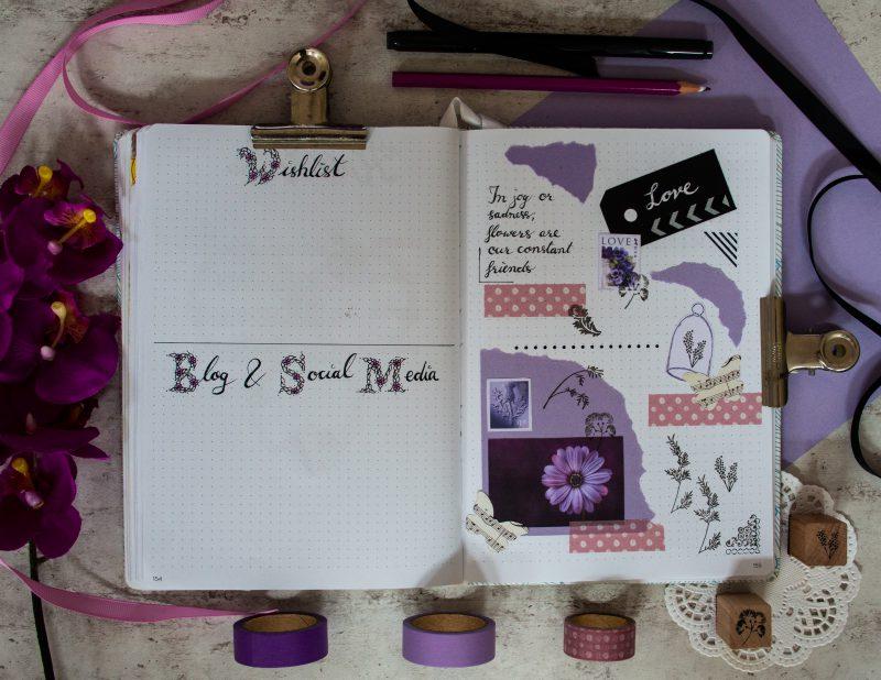 Scrapbook purple