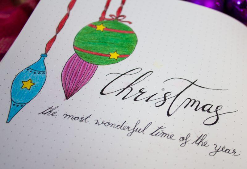Bullet Journal christmas december