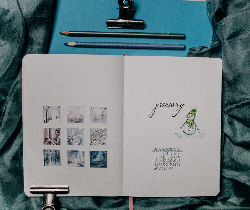 Bullet Journal Setting January 2020