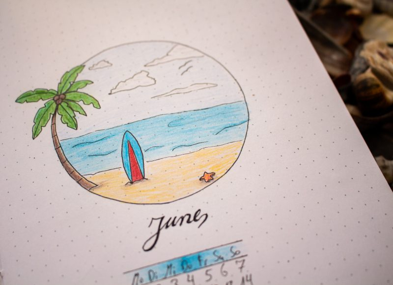 Bullet Journal June Title
