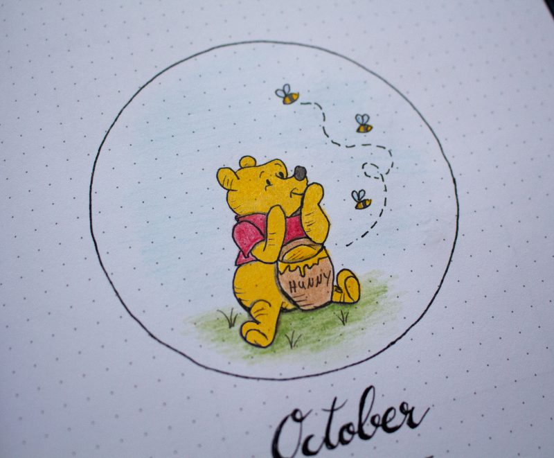 Winnie Pooh Bullet Journal Cover
